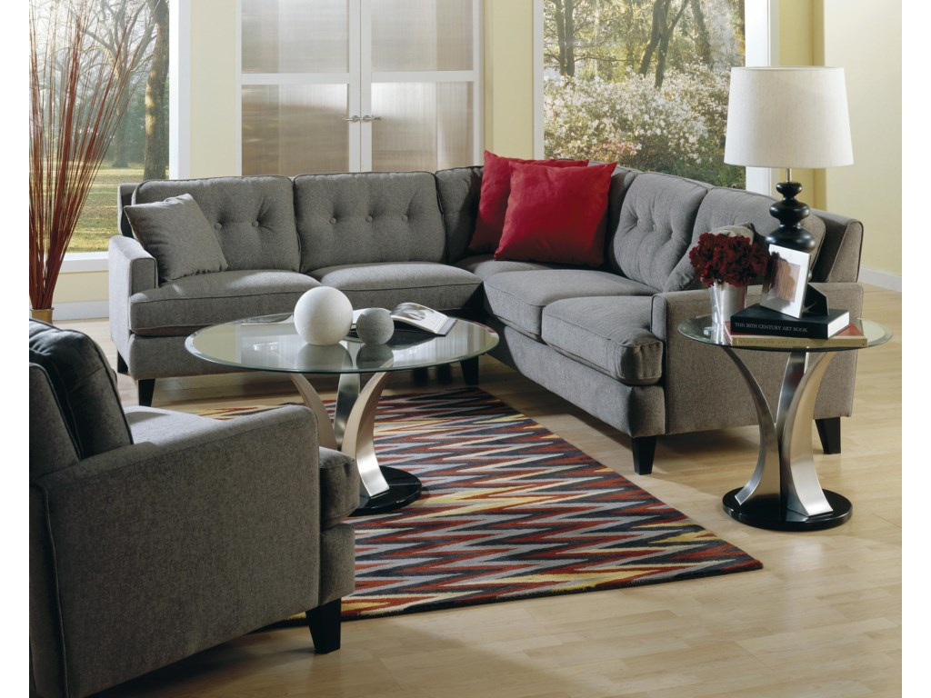 Palliser BarbaraTwo Piece Sectional Sofa with LHF Loveseat