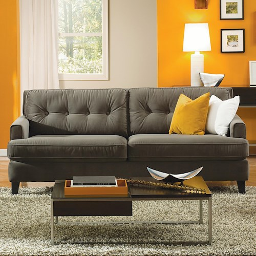 Palliser Barbara Transitional Apartment Sofa with Tapered Block Legs