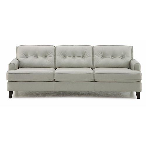 Palliser Barbara Transitional Stationary Sofa with Tapered Wood Legs
