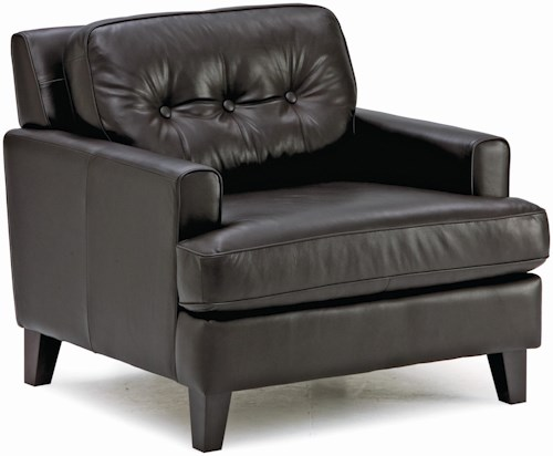 Palliser Barbara Transitional Stationary Chair with Wood Legs