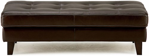 Palliser Barbara Transitional Cocktail Ottoman with Button Tufting
