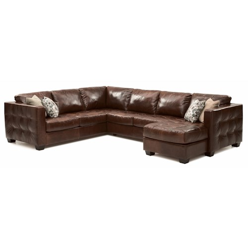 Palliser Barrett  Contemporary Sofa Sectional with Track Arm and Cushion Tufting