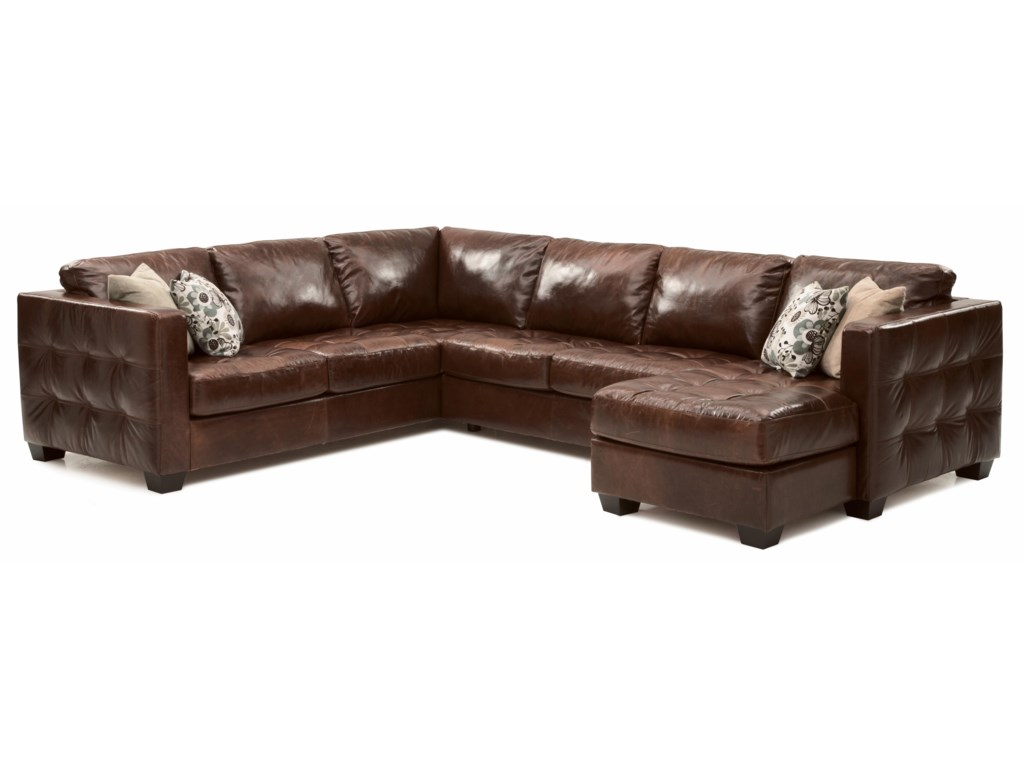 Palliser Barrett Contemporary Sofa Sectional with Track Arm and ...