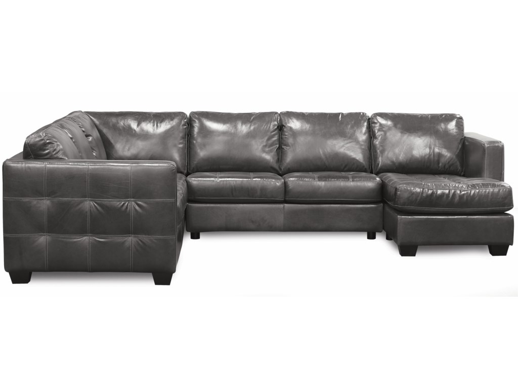 Barrett Contemporary Sofa Sectional with Track Arm and Cushion Tufting by  Palliser at Dunk & Bright Furniture