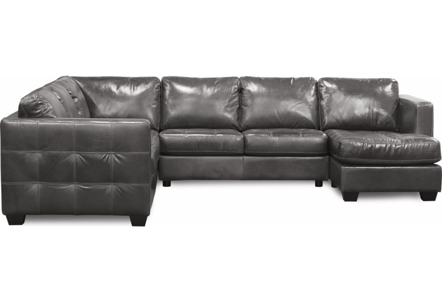 Barrett Sofa Sectional with Decorative Track Arm