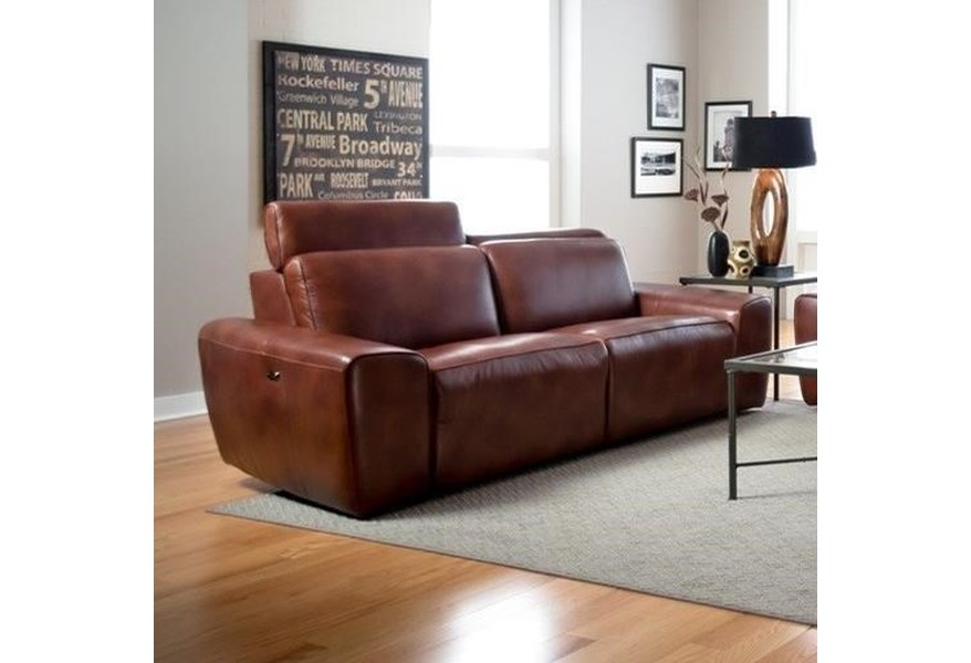 Palliser Beaumont 41637 5p Contemporary Sofa Power Recliner With Power Headrests Furniture And Appliancemart Reclining Sofas