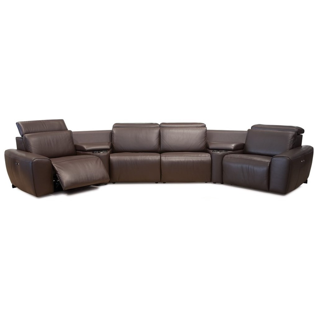 Palliser Beaumont Contemporary 4 Seat Angled Reclining Sectional