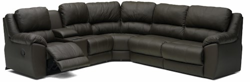 Palliser Benson 41164 L-Shaped Leather Reclining Sectional