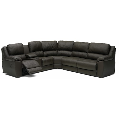 Palliser Benson 41164 L-Shaped Leather Reclining Sectional ...