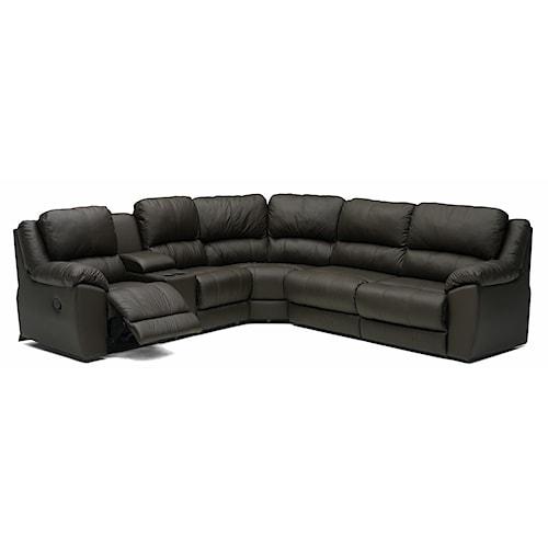 Palliser Benson 41164 L-Shaped Leather Reclining Sectional