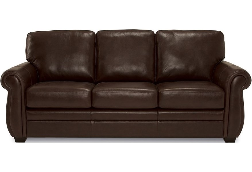 Palliser Borrego Traditional Sofa With Rolled Arms Darvin Furniture Sofas