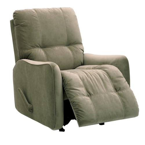 Palliser Bounty Casual Swivel Rocker Recliner with Button-Tufting