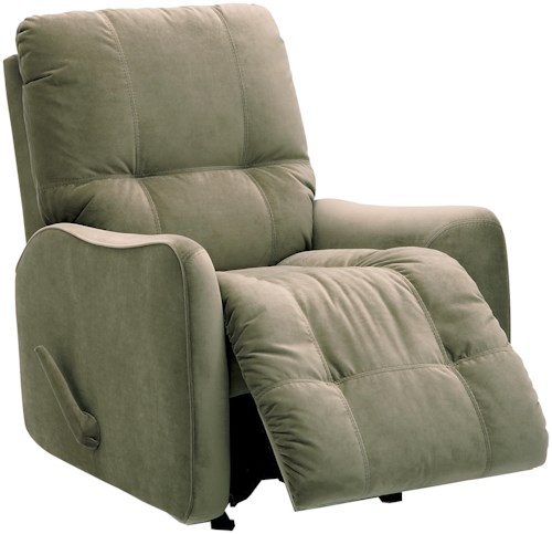 Palliser Bounty Casual Rocker Recliner with Button-Tufting
