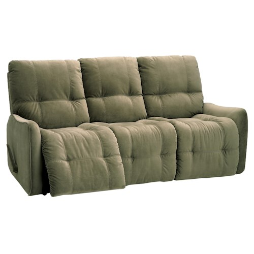 Palliser Bounty Casual Sofa Recliner with Button-Tufting
