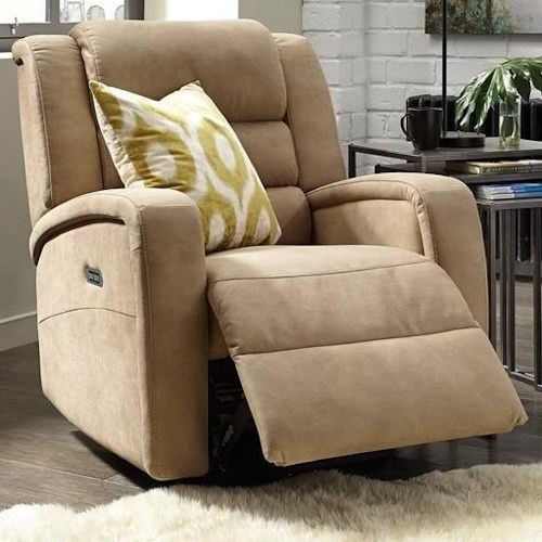Palliser Bryn Casual Power Rocker Recliner with Full Chaise Support