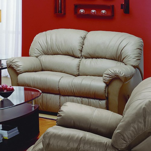 Palliser Callahan Casual Love Recliner with Flared Pillow Arm