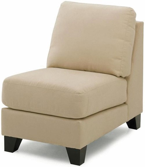 Palliser Cato Contemporary Upholstered Armless Chair