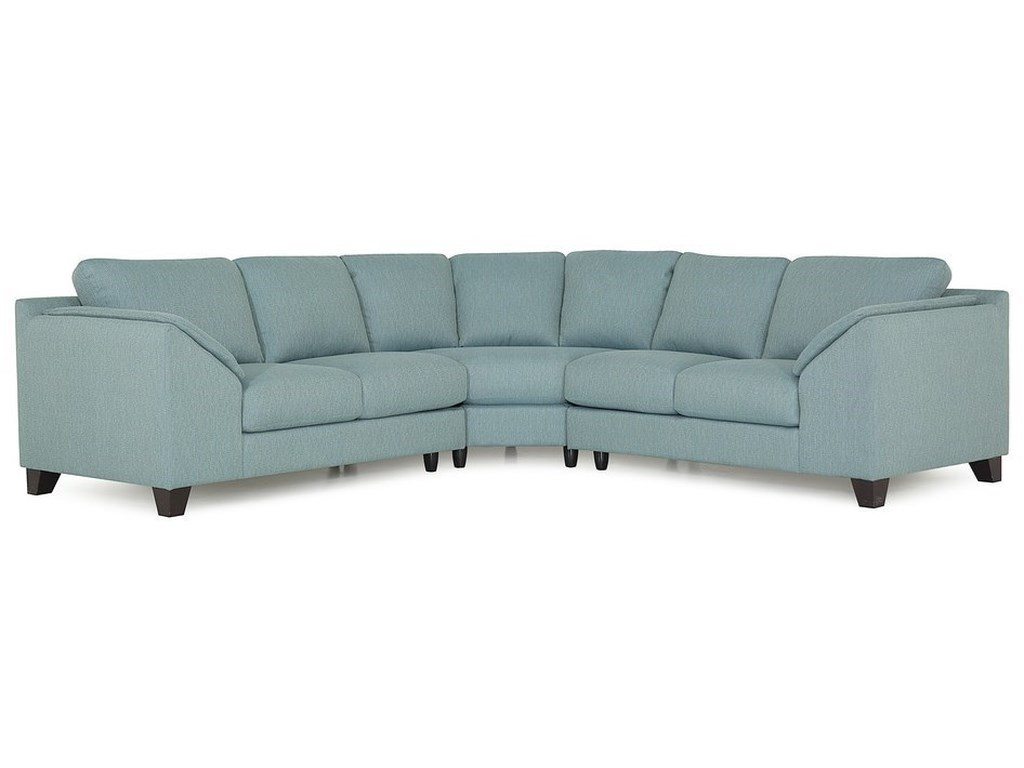 Palliser Cato Contemporary Sectional with Wedge | Dean Bosler\'s ...