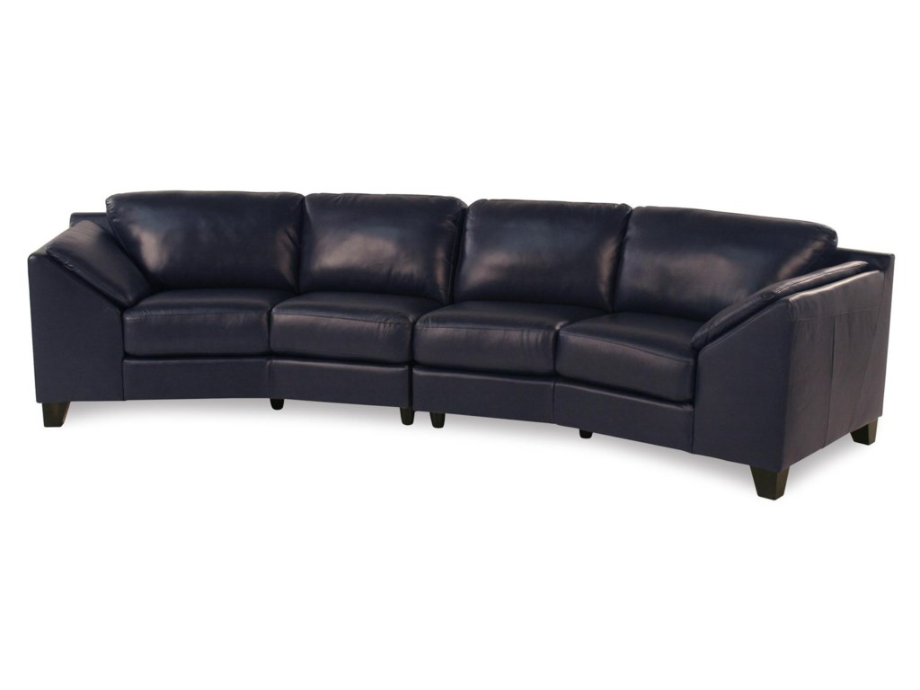 Regatta Contemporary Leather Sectional Sofa by Palliser at Rotmans