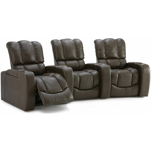 Palliser Channel Three Seat Curved Power Reclining Sectional