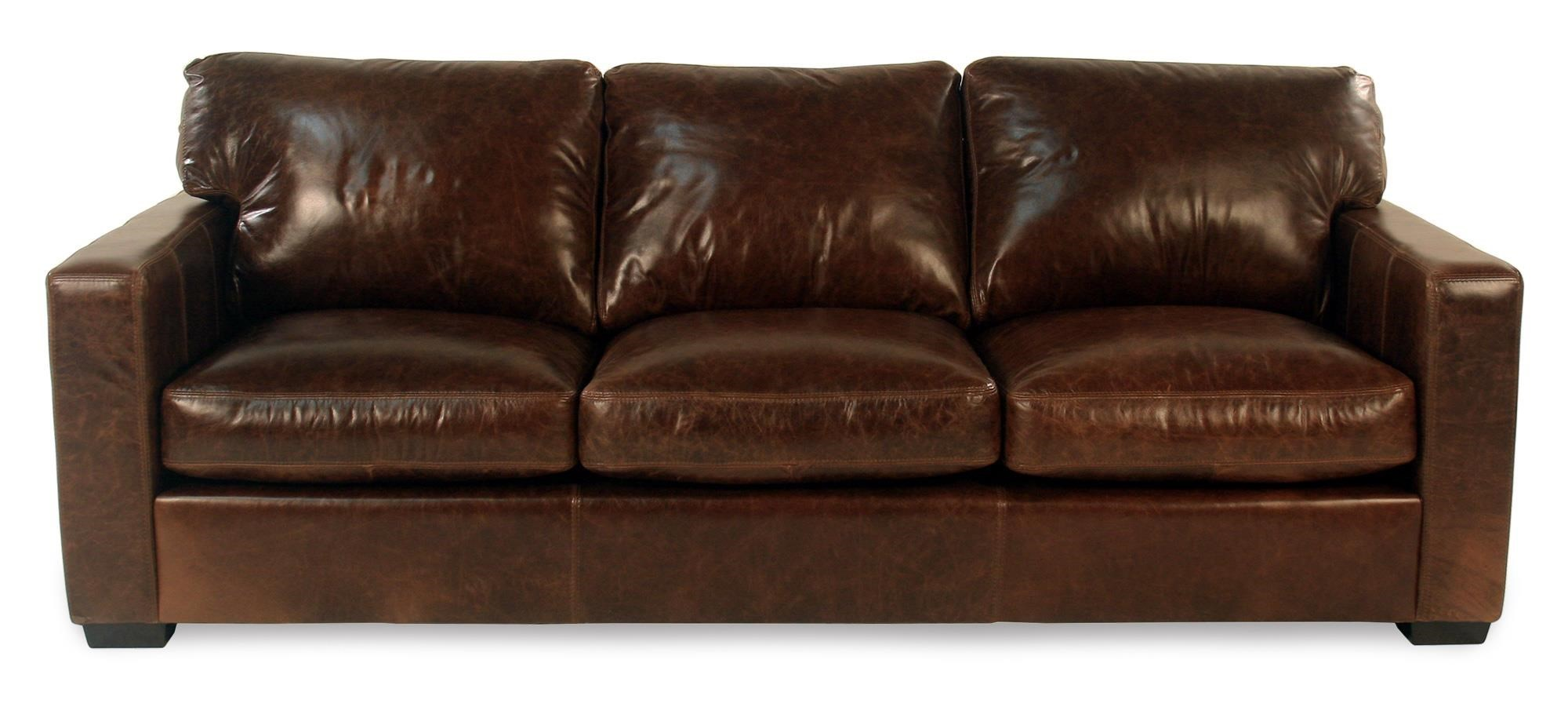 Living Room Furniture Ma fireside leather sofa w/ track arms - rotmans - sofas worcester