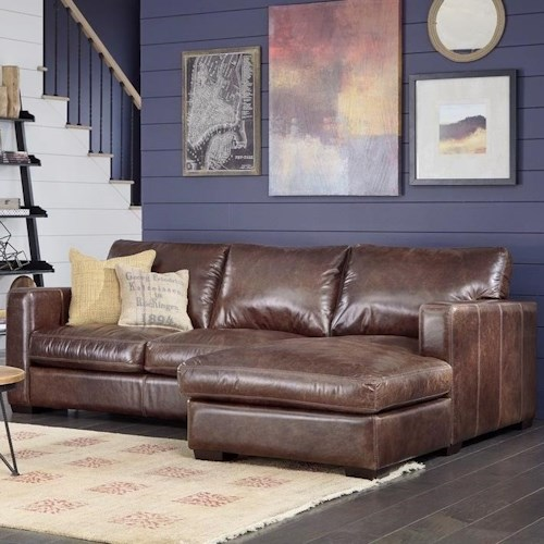 Palliser Colebrook Casual Sectional Sofa with Track Arms and Chaise