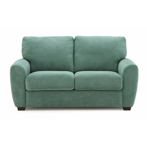 Palliser Capitol Contemporary Loveseat with Rounded Track Arms