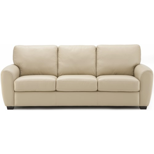 Palliser Connecticut Contemporary Sofa with Rounded Track Arms