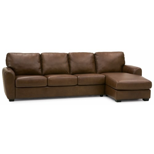Palliser Connecticut Contemporary Sectional Sofa with RHF Chaise