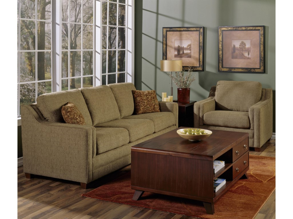 Shown in a Room Setting with Arm Chair