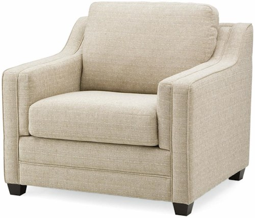 Palliser Corissa Contemporary Chair with Track Arms