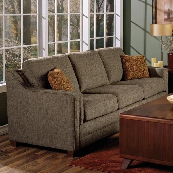 Contemporary Sofa Sleeper with Track Arms