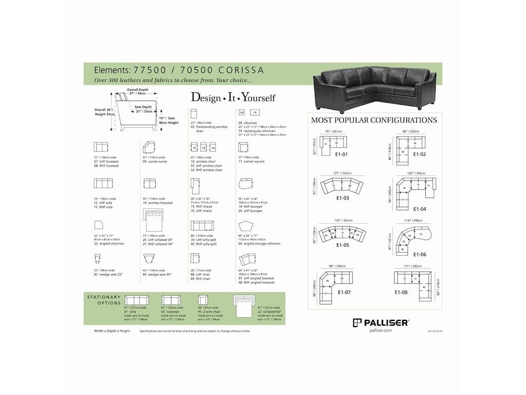 Palliser Corissa3-Piece Sectional