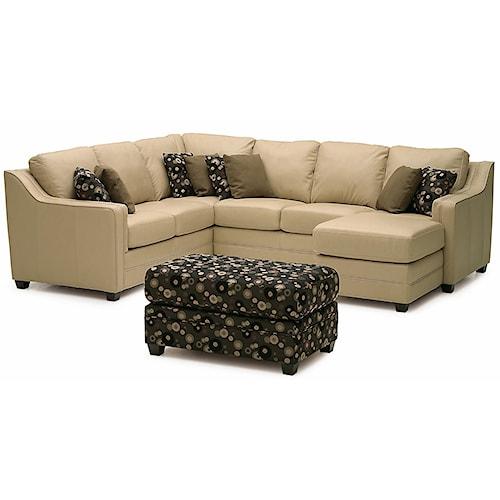 Palliser Corissa Contemporary Sectional Sofa
