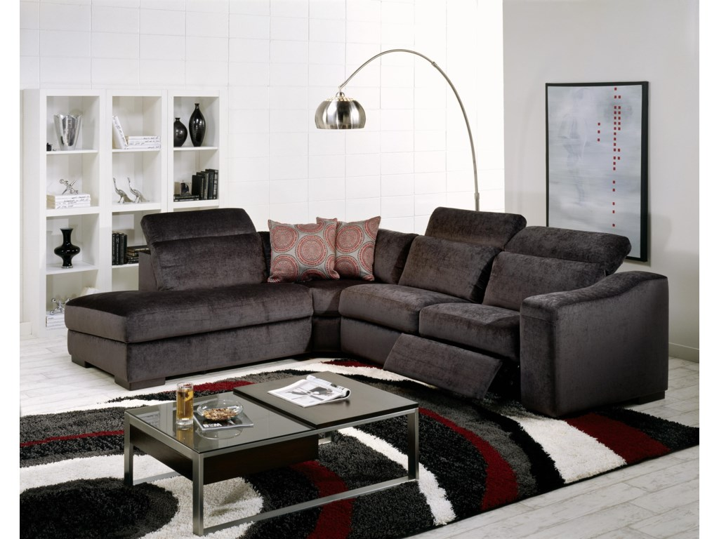 Palliser Cortez IIStationary LHF 4 Pc. Sectional