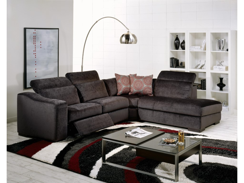 Palliser Cortez IIPowered RHF 4 Pc. Sectional