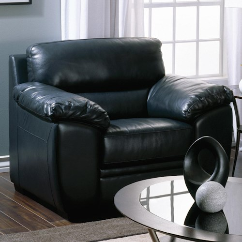 Palliser Cypress Contemporary Chair with Pillow Arms and Bustle Back