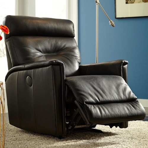 Palliser Denali Contemporary Power Swivel Rocker Recliner with Track Arms