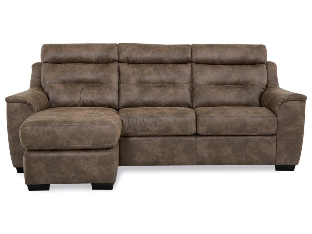 Palliser Denmark Contemporary Sofa with Chaise | Furniture ...