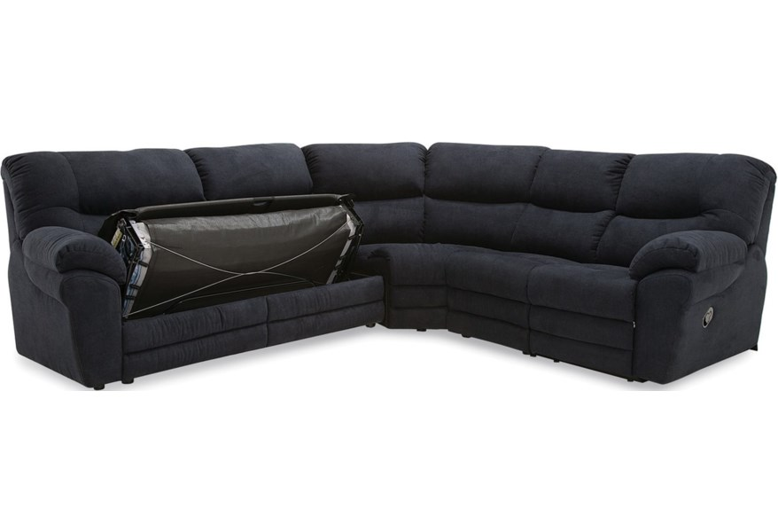 Palliser Divo 4-Seat Reclining Sectional Sofa with Sleeper ...