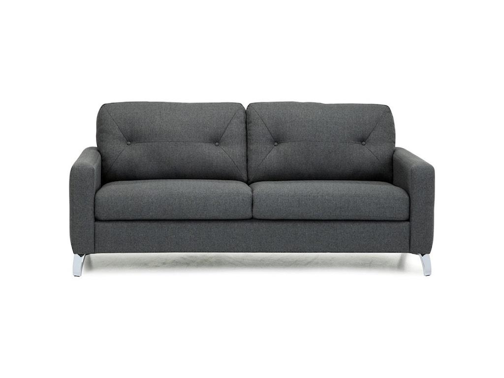 Palliser Dot 77781 01 Modern Sofa With Tufts On Seat Back