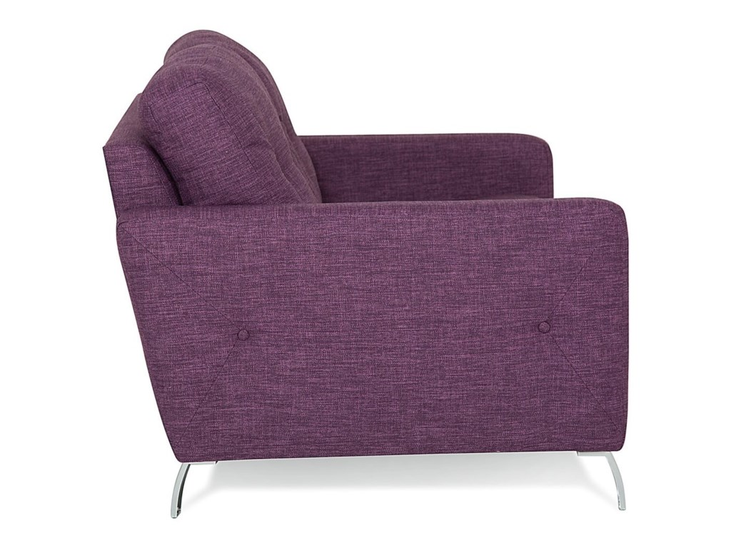 Dot modern chair with tufts on seat back by palliser