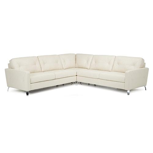 Palliser Dot Three Piece Corner Sectional Sofa