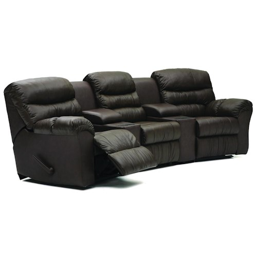 Palliser Durant Curved Home Theater Seating Configuration F
