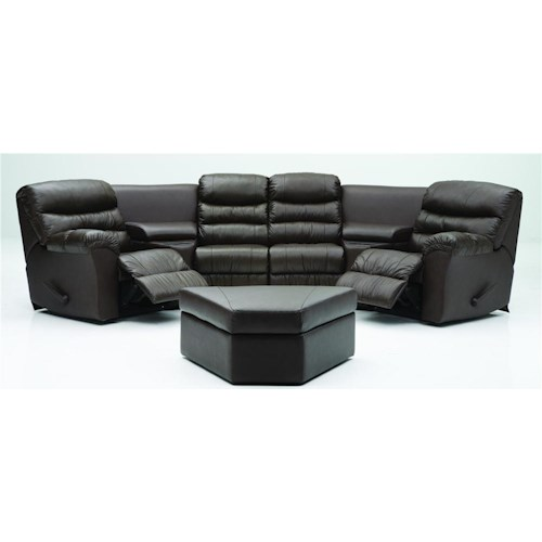 Palliser Durant Corner Home Theater Seating Configuration E