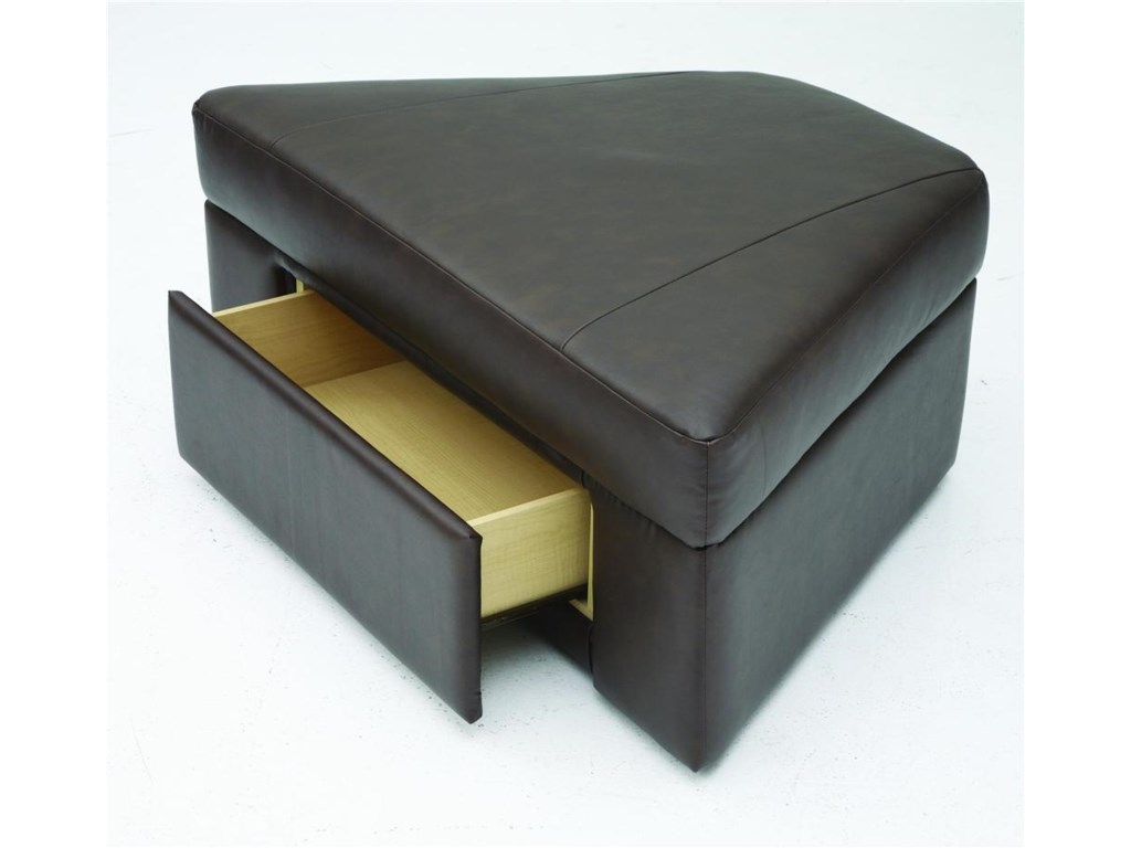 The ottoman has a hidden storage drawer