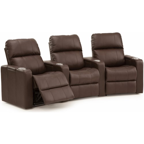 Palliser Elite Three Seat Curved Power Reclining Sectional