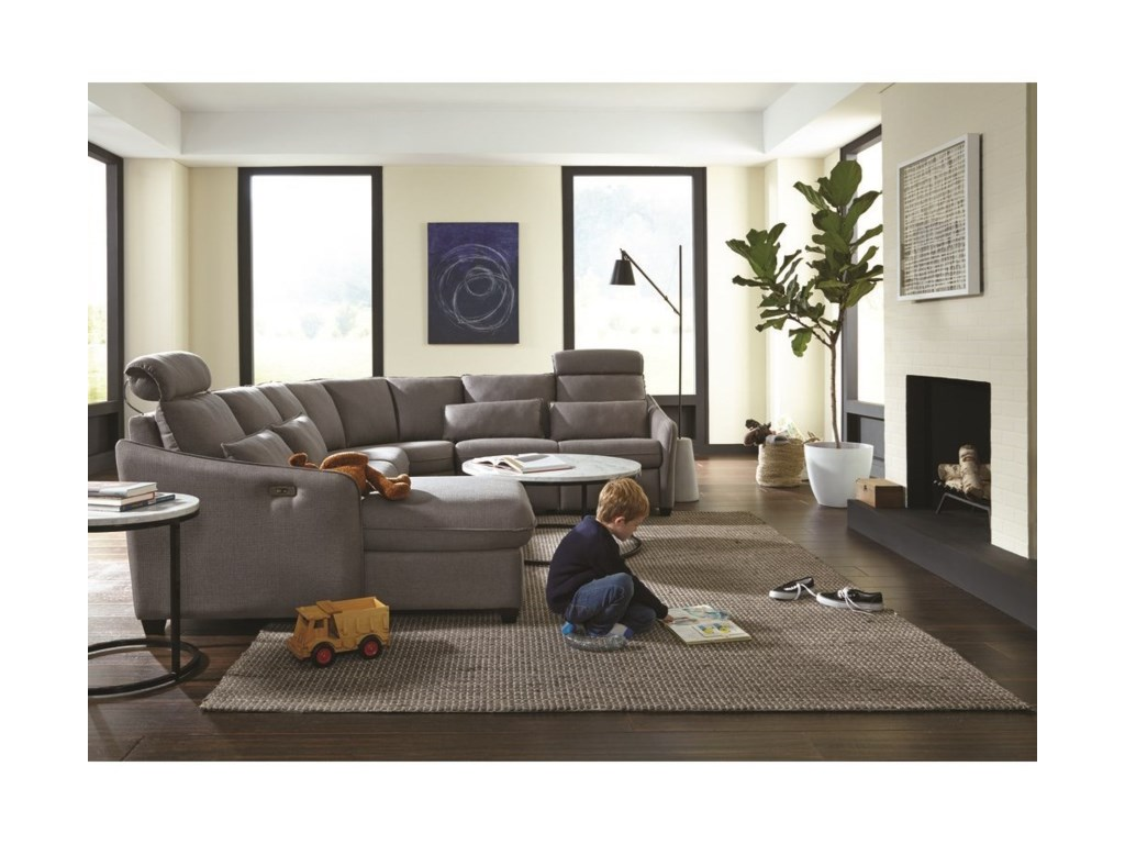 Palliser EthanPower Reclining Sectional with LAF Chaise