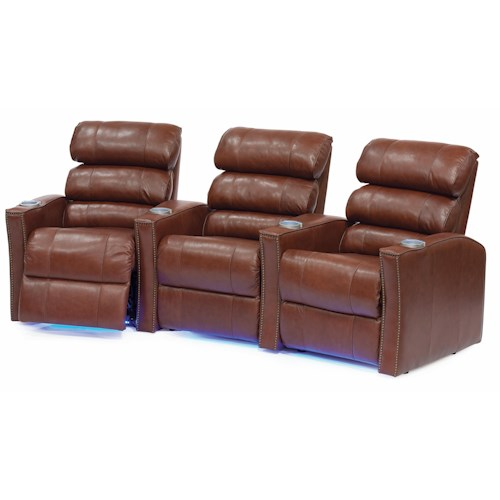 Palliser Feedback Reclining Home Theater Seating W/Cup Holders