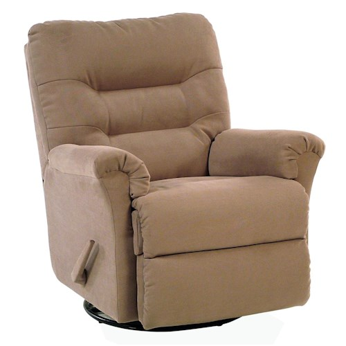 Palliser Mila Swivel Rocker Recliner with Channel-Tufted Back